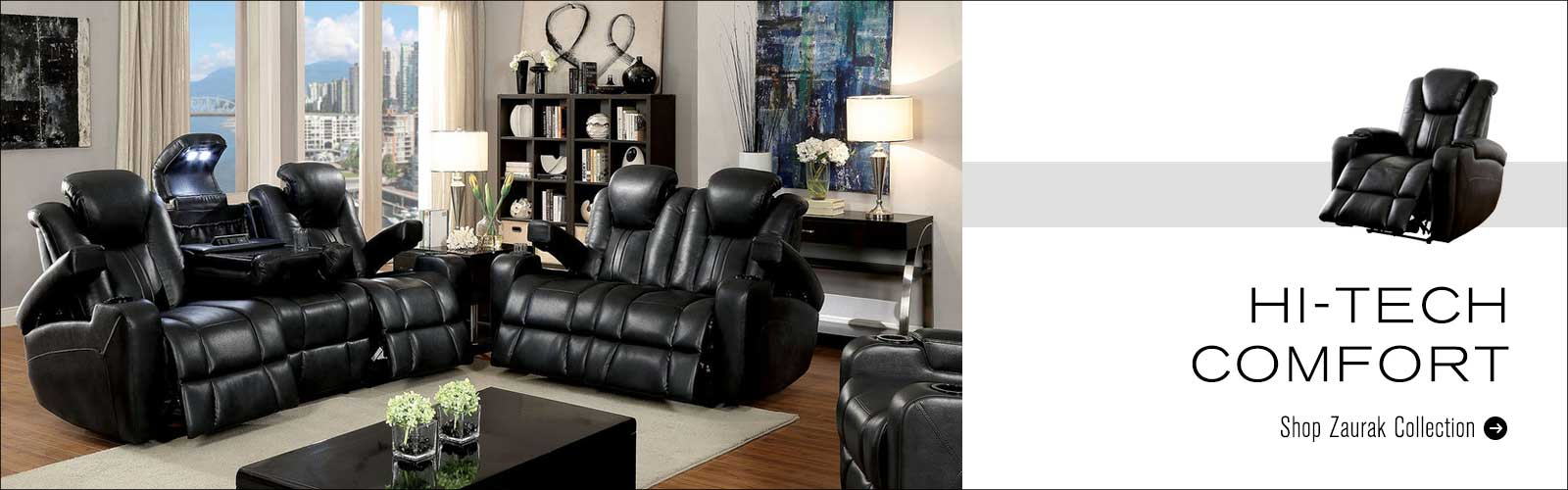 Living room reclining sofa set
